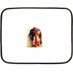 Indian 22 Fleece Blanket (mini) by indianwarrior