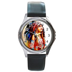 Indian 22 Round Metal Watch by indianwarrior