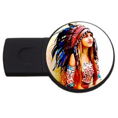 Indian 22 Usb Flash Drive Round (2 Gb)  by indianwarrior