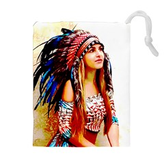 Indian 22 Drawstring Pouches (extra Large) by indianwarrior