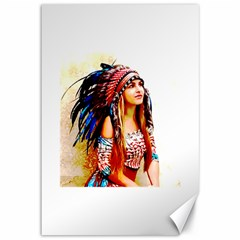 Indian 22 Canvas 12  X 18   by indianwarrior