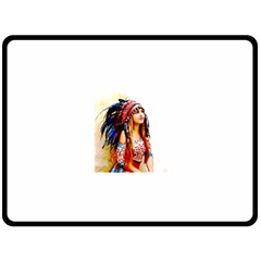 Indian 22 Double Sided Fleece Blanket (Large)  by indianwarrior