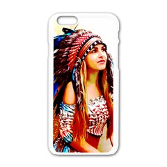 Indian 22 Apple Iphone 6/6s White Enamel Case by indianwarrior