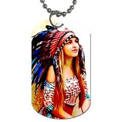 Indian 22 Dog Tag (one Side) by indianwarrior