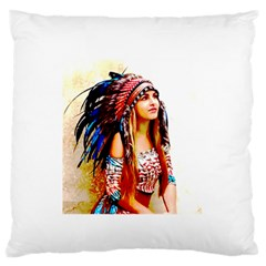 Indian 22 Large Flano Cushion Case (two Sides) by indianwarrior