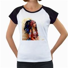 Indian 21 Women s Cap Sleeve T