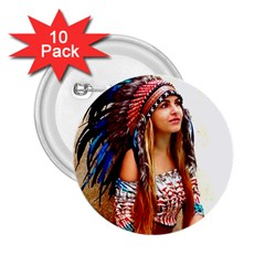 Indian 21 2 25  Buttons (10 Pack)