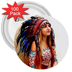 Indian 21 3  Buttons (100 Pack)  by indianwarrior