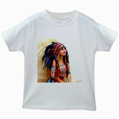 Indian 21 Kids White T Shirts by indianwarrior