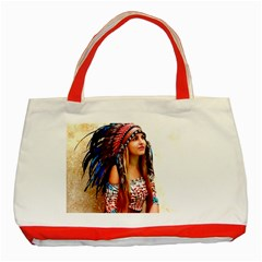 Indian 21 Classic Tote Bag (red) by indianwarrior