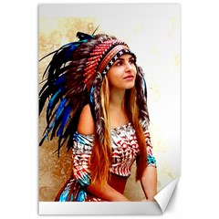 Indian 21 Canvas 24  X 36  by indianwarrior