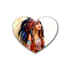 Indian 21 Rubber Coaster (heart)  by indianwarrior