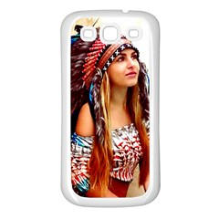 Indian 21 Samsung Galaxy S3 Back Case (white) by indianwarrior