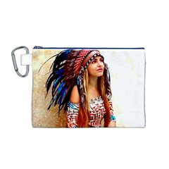 Indian 21 Canvas Cosmetic Bag (m) by indianwarrior