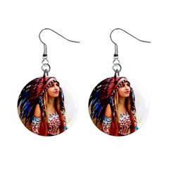 Indian 21 Mini Button Earrings by indianwarrior