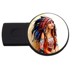 Indian 21 Usb Flash Drive Round (2 Gb)  by indianwarrior