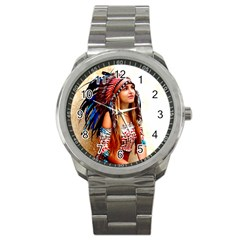Indian 21 Sport Metal Watch by indianwarrior