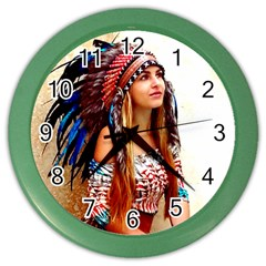 Indian 21 Color Wall Clocks by indianwarrior