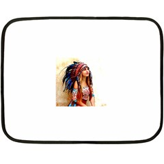 Indian 21 Fleece Blanket (mini) by indianwarrior