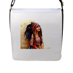 Indian 21 Flap Messenger Bag (l)  by indianwarrior