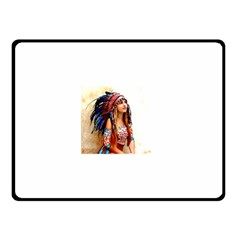 Indian 21 Double Sided Fleece Blanket (small)  by indianwarrior