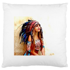 Indian 21 Standard Flano Cushion Case (one Side) by indianwarrior