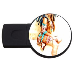 Indian 18 Usb Flash Drive Round (2 Gb)  by indianwarrior