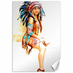 Indian 18 Canvas 12  X 18   by indianwarrior