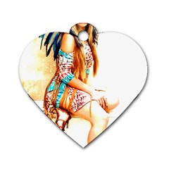 Indian 18 Dog Tag Heart (two Sides) by indianwarrior