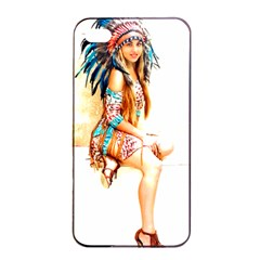 Indian 18 Apple Iphone 4/4s Seamless Case (black) by indianwarrior