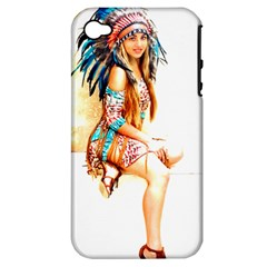 Indian 18 Apple Iphone 4/4s Hardshell Case (pc+silicone) by indianwarrior