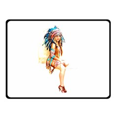 Indian 18 Double Sided Fleece Blanket (small)  by indianwarrior