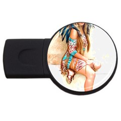 Indian 17 Usb Flash Drive Round (2 Gb)  by indianwarrior