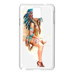 Indian 17 Samsung Galaxy Note 3 N9005 Case (white) by indianwarrior