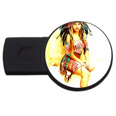 Indian 16 Usb Flash Drive Round (2 Gb)  by indianwarrior