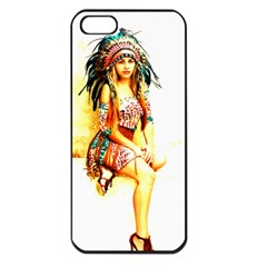 Indian 16 Apple Iphone 5 Seamless Case (black) by indianwarrior