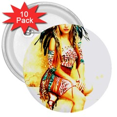 Indian 16 3  Buttons (10 Pack)  by indianwarrior
