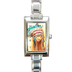 Indian 14 Rectangle Italian Charm Watch by indianwarrior