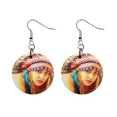 Indian 14 Mini Button Earrings by indianwarrior