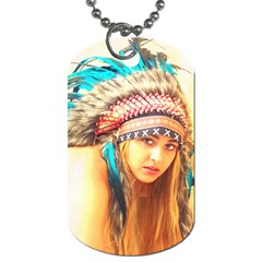 Indian 14 Dog Tag (one Side) by indianwarrior