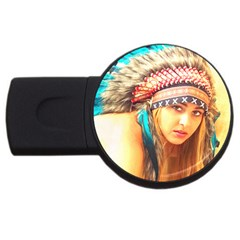 Indian 14 Usb Flash Drive Round (2 Gb)  by indianwarrior