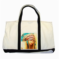 Indian 14 Two Tone Tote Bag by indianwarrior