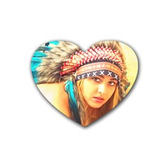 Indian 14 Rubber Coaster (heart)  by indianwarrior