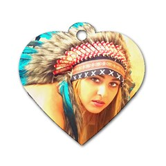 Indian 14 Dog Tag Heart (one Side) by indianwarrior