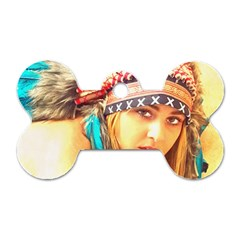 Indian 14 Dog Tag Bone (two Sides) by indianwarrior