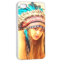 Indian 14 Apple Iphone 4/4s Seamless Case (white) by indianwarrior