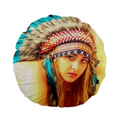 Indian 14 Standard 15  Premium Round Cushions by indianwarrior