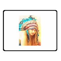 Indian 14 Double Sided Fleece Blanket (small)  by indianwarrior