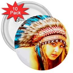 Indian 12 3  Buttons (10 Pack)  by indianwarrior