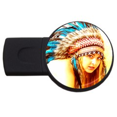 Indian 12 Usb Flash Drive Round (2 Gb)  by indianwarrior